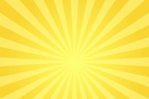 金色に輝く放射線の背景イラスト