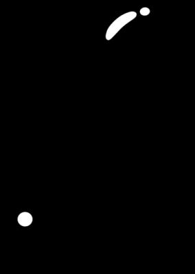 ビックリマークのイラスト(黒色)