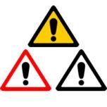 ビックリマークの三角標識イラスト
