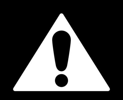 ビックリマークの三角標識イラスト(白)