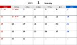 2023年エクセル無料カレンダー(月間:日曜始まり)