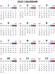 2023年エクセル無料カレンダー(年間:月曜始まり)