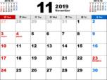 2019年11月無料PDFカレンダー