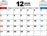 2020年12月無料PDFカレンダー