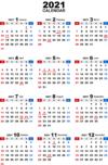 2021年無料PDFカレンダー(年間)