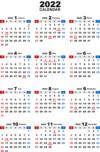 2022年無料PDFカレンダー(年間)