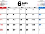 2023年6月無料PDFカレンダー