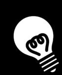 電球の白黒イラスト