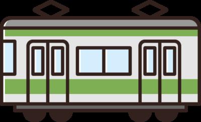 電車のイラスト(山手線)