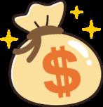 ドル袋のイラスト