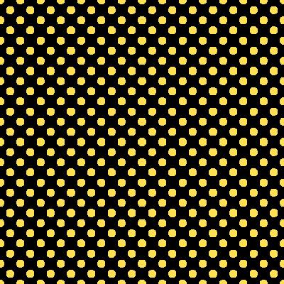 ドット柄(水玉模様)の背景透過PNGイラスト・パターン素材(黃色)