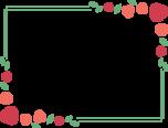 赤いバラのフレーム枠イラスト