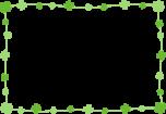 シンプルなクローバーのフレーム枠イラスト
