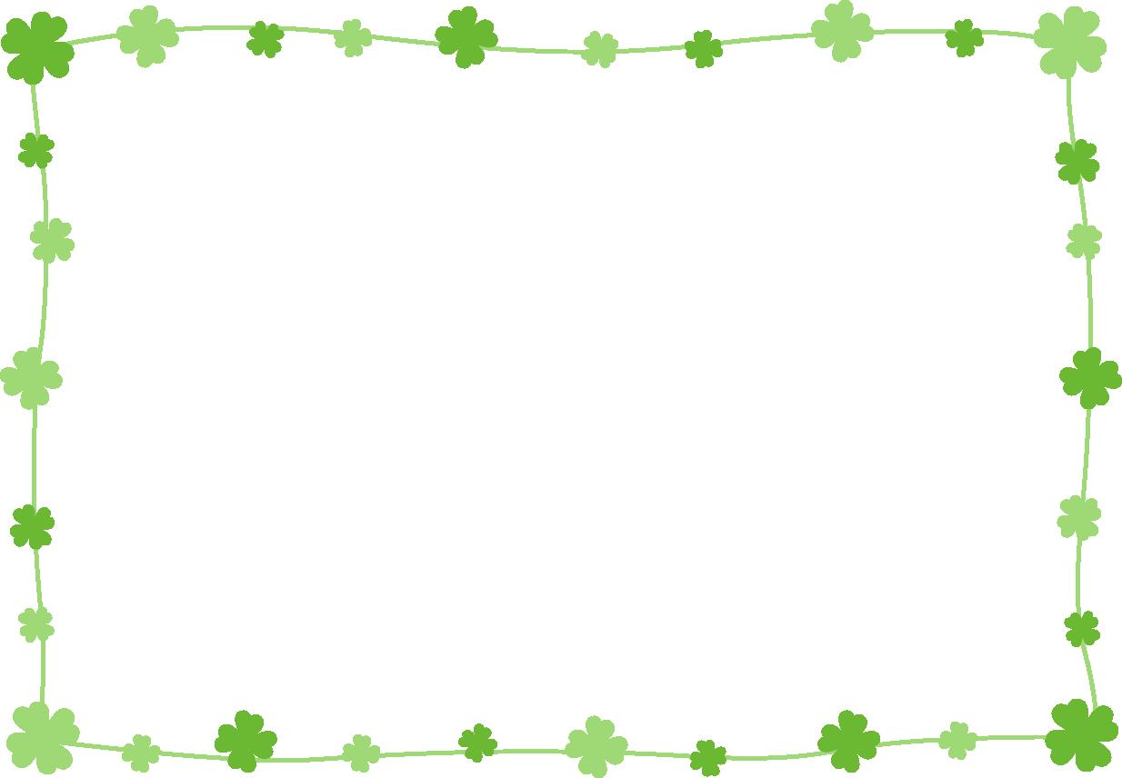 シンプルなクローバーのフレーム枠イラスト イラストストック