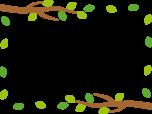 木の枝と葉っぱのフレーム枠イラスト