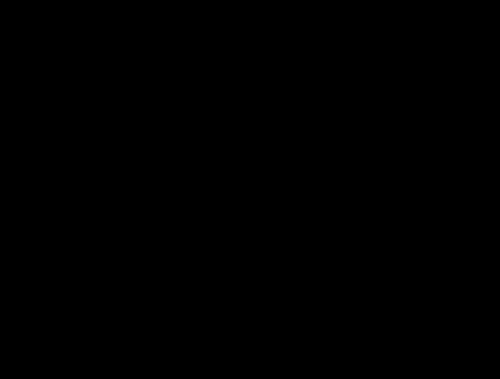 毛筆・墨の四角いフレーム枠イラスト