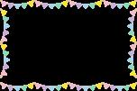 かわいい三角フラッグガーランドのフレーム枠イラスト