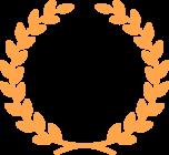 月桂樹のフレーム枠イラスト(銅)
