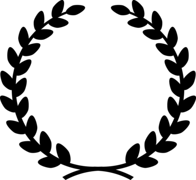 月桂樹の白黒シルエットイラスト