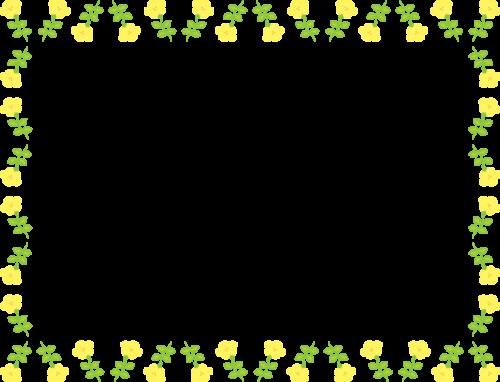かわいい春の花のフレーム枠イラスト