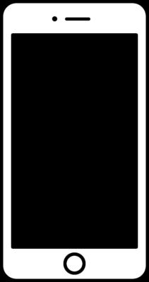 白いスマートフォン(スマホ)のフレーム枠イラスト