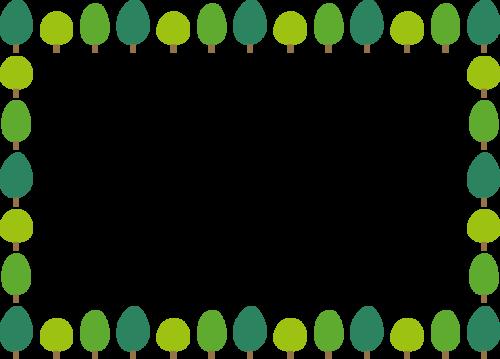 樹木のフレーム枠イラスト