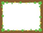 クローバーのメッセージボード・フレーム枠イラスト