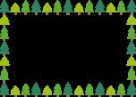 モミの木のフレーム枠イラスト