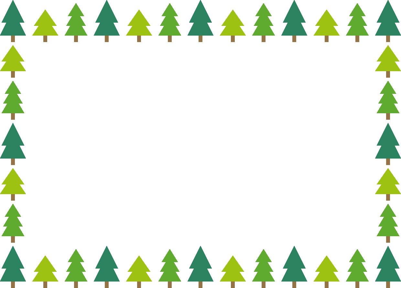 モミの木のフレーム枠イラスト イラストストック