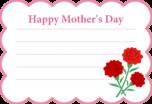 母の日用メッセージカード・テンプレート(もこもこフレーム)