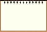リングノートのフレーム枠イラスト