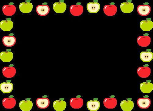 りんごのフレーム枠イラスト