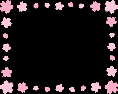 桜のフレーム枠イラスト