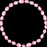 桜の花びらのリース型フレーム枠イラスト