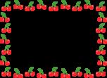 さくらんぼのフレーム枠イラスト