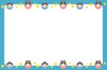 七夕のフレーム枠イラスト(織姫と彦星)