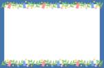 七夕のフレーム枠イラスト(笹飾り)