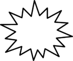 吹き出しイラスト素材(ギザキザ)
