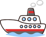 かわいい船のイラスト