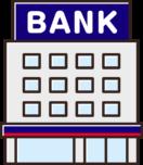 銀行のイラスト(青)
