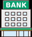 銀行のイラスト(緑)