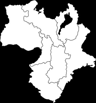 【白地図】近畿地方のイラスト