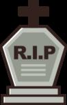 ハロウィンのお墓のイラスト