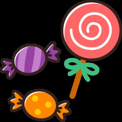 ハロウィンのお菓子(キャンディー・飴)のイラスト