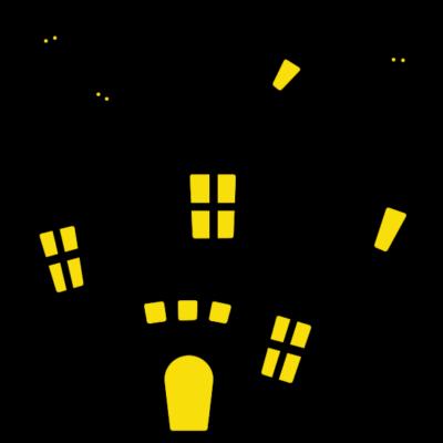 ハロウィンのお城(家)のイラスト