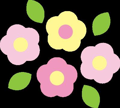 かわいい春の花のイラスト