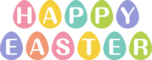 HAPPY EASTERの文字イラスト