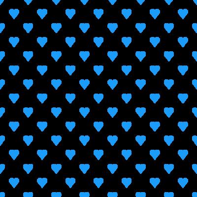 ハート柄の背景透過PNGイラスト・パターン素材(青色)