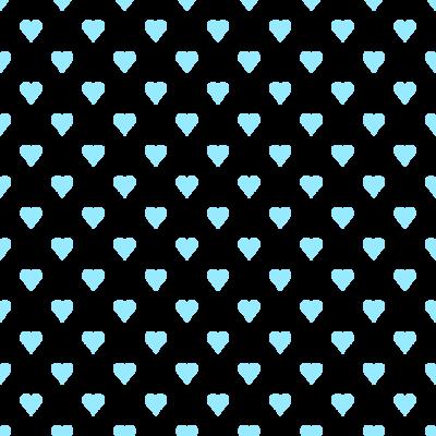 ハート柄の背景透過PNGイラスト・パターン素材(水色)