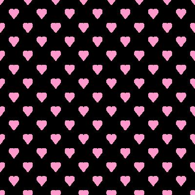 ハート柄の背景透過PNGイラスト・パターン素材(ピンク色)